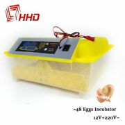 Egg Incubator Hatcher Automatic Digital Large Tray Chicken Hatchery 48 Poultry