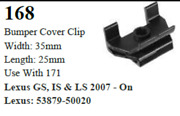 100 Pcs Bumper Cover Fastener Retainer Clips Compatible With Lexus 53879-50020