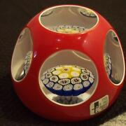 Mint Condition Item Murano Millefiori Glass Paper Weight Shipping From Japan