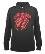 The Rolling Stones And039neon Signand039 Slate Pull Over Hoodie - Amplified Clothing