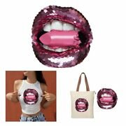 Sticker For Clothes Girl Lips Diy Patches Iron On Heat Transfer T-shirt Applique