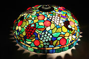Pool Table Lamp Style Stained Glass Blue Red 23andrdquo Hanging Ceiling Light