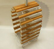Rare Astrolite Ritts Co Huge Lucite Bamboo Lamp L.a. Calif Hollywood Glam