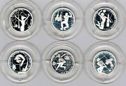 Russia - 1 Rouble 1998 Proof Y 614-619, Set Of 6 Coins World Youth Games