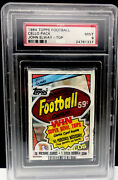 Psa 9 John Elway Rc On Top 1984 Topps Football Cello Wax Pack Graded