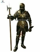 Medieval Knight Gothic 15th Century Closed Full Suit Of Armor Halloween Wearable