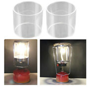 2pcs Tent Glass Shade Cylinder Lampshade Replacement Gas Lamp Accessories L