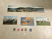 Silver 10c 1936 Postcard 4 Foldout Quebec City Canada Stamp Queen And King 1889