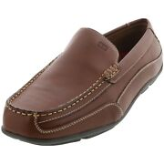 Menand039s Dathan Slip On Driver Moccasins Brown Leather Size 7 M