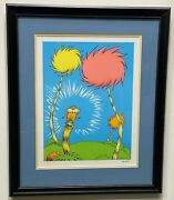 Dr. Seuss Art The Lorax Book Cover Limited Edition - Very Rare - Mint