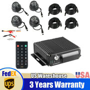 4ch Vehicle Car Mobile Dvr Security Video Recorder +4pcs Night Vision Camera Us