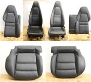 All Interior Front And Rear Seats Heated Electric Oem Porsche Panamera Black