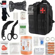 Survival First Aid Kit Medical Emergency Military Trauma Bag Tactical Ifak Molle