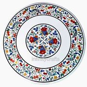 36 X 36 Inches Marble Dining Table Top Beautiful Design Coffee Table Vintage Art
