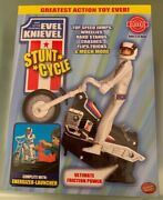 Mfr. Sold Out Evel Knievel Stunt Cycle New Sealed Box King Of The Stuntmen 70and039s