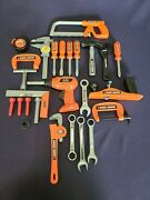 Huge Lot Of 25 Black And Decker Play Pretend Kids Plastic Toys - Hammer Drill +