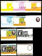 Niue 1979 50c Rowland Hill Ceres Stamp And Railroad Mail Car Progressive Proof 20v