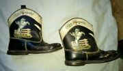 Vintage Roy Rogers And Trigger Childand039s Cowboy Boots Rare Style Bf Goodrich Soles