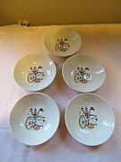 Taylor Smith Taylor Rooster Weathervane Saucers And Bowls Lot Farmhouse Decor