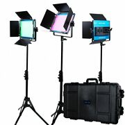 Dracast Led500 X Series Rgb And Bi-color Led 3 Light Kit With Injection Molde...