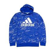 New Adidas Essentials All Over Print Menand039s French Terry Hoodie