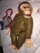 Extraordinary Monkey In Straw Filled And Felt Toy D'classic