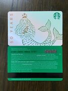 Canada Series Starbucks 50 Years 2021andrdquo 6189 Gift Card With Black Mag Stripe