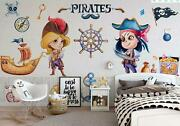 3d Pirate Captain G2671 Wallpaper Mural Self-adhesive Removable Sticker Honey