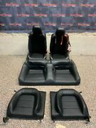 2016 Ford Mustang Gt Oem Black Leather Seats Front Rear Coupe -blown Bag-