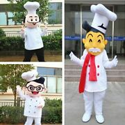 Advertising Cook Chef Baker Mascot Costume Suit Character Outfits Dress Adult @@