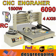 1.5kw Usb 4axis Cnc 6090 Router Milling Engraving 3d Cutting Engraver+controller