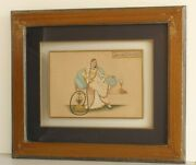 Mughal Miniature Old Painting Of Semi Nude Mughal Empress With Framed Finest Art