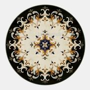 42 X 42 Inches Black Kitchen Table Top Decent Pattern Marble Dining Table Top