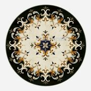Handmade Crafts Dining Table Top Round Marble Restaurant Table Top 48 Inches