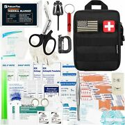 Outdoor Emergency First Aid Kit Medical Survival Molle Pouch Bleedings Burns 200