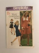 Simplicity 9890 Vintage 70s Sewing Pattern Two Piece Dress