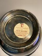 Sons Of Liberty Paul Revere Silverplate Bowl Reproduction Of Original By Oneida