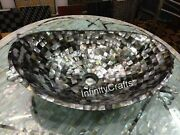 20 X 16 Inches Restaurant Sink With Black Mother Of Pearl Stone Marble Vessel