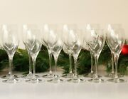 Baccarat Wine Glasses Two Sets Of Six Signed
