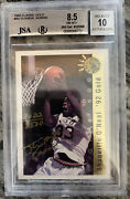 1992 Classic Gold Shaquille Oand039neal Rc Rookie Gold Ink Auto /8500 Bgs Jsa 8.5 10