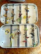 Vintage Richard Wheatley Magnetic Strip Fly Box With Flies