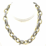 Silver 18k David Yurman Oval Extra-large Link Necklace Yellow Gold