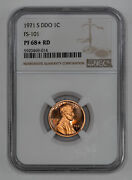 1971 S Ddo Proof Lincoln Memorial Cent 1c Fs-101 Ngc Pf 68 Star Red 014