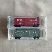 Kadee Micro Trains N Scale Northern And Union Pacific Box Car Set New Special Run