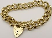 Heavy Solid 9ct Yellow Gold Chain Link 17.5cm Vintage Bracelet Weighs 59 Grams.