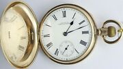 Antique 9ct Gold Full Hunter Pocket Watch Waltham Usa. In Good Working Order.