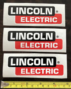 3 Lincoln Electric Racing Decals Stickers Offroad Utv Overland Ultra4 Imsa Drags
