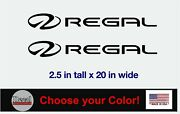 Regal Boat Lettering Vinyl Decals Boat Stickers 2 Pc Set