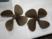 Michigan Wheel Matched Pair Of Bronze Propeller For Twin Inboard Engines