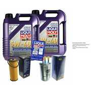 Inspection Kit Filter Liqui Moly Oil 10l 5w-40 For Ssangyong Rexton Gab _ 2.7
